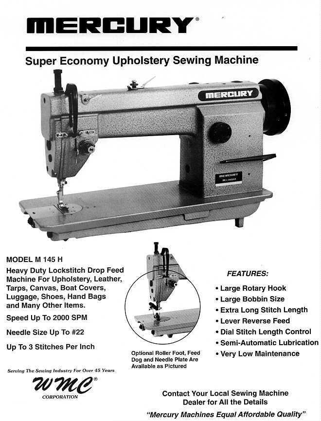 Mercury M40H Impressive Industrial Sewing Machine Portland